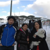في لبنان مرقد عنزة A Korean family in the Middle East Snow Mountain
