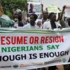 نيجيريا: مسيرة تطالب بتنحي الرئيس بخاري أو عودته للبلاد