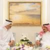 الملك سلمان يستقبل الشيخ عبدالله بن علي بن عبدالله آل ثاني