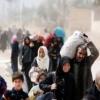 آلاف المدنيين يفرون من جحيم الغوطة