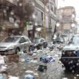 الأمطار الغزيرة تغرق بيروت بسيول من النفايات