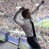 ماكرون يقفز احتفالاً بفوز فرنسا