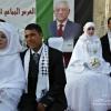عباس يزف ٥٠٠ عروس وعريس في رام الله