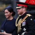 حضر الأمير البريطاني هاري وزوجته ميجان عرضا عسكريا أقيم تكريما للملكة إليزابيث