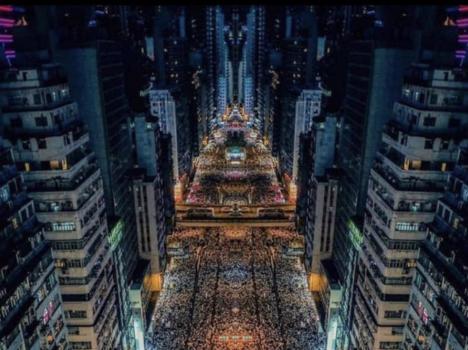 مليونا متظاهر في هونغ كونغ ضد مشروع قانون تسليم المطلوبين إلى الصين
