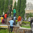 Where is this statue of Gandhi?  removed from University of Ghana